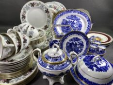 BLUE & WHITE TABLEWARE, Royal Doulton 'Camelot' tea and dinnerware, approximately thirty five pieces