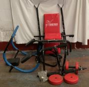 FITNESS EQUIPMENT including weight bench