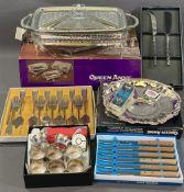 EPNS MODERN FOOD WARMER, (boxed) Spear & Jackson cutlery ETC