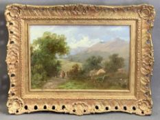 ?? PANE oil on panel - labelled verso and titled 'A Country Path', 8 x 27cms