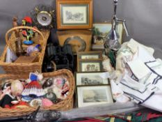 ART DECO STYLE MANTEL CLOCK by Smiths, 18cms H, 10.5cms W, 26cms D, cased Russian binoculars, chrome