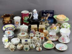 CABINET CHINA ITEMS including Continental, crested ware, Maling, Crown Derby ETC, a good assortment