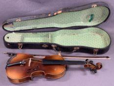 MUSICAL INSTRUMENT - violin with interior label 'Antonius Stradivarius Cremonensis, Made in