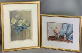 VERNON WARD watercolour - still life, signed, 36.5 x 27cms and VICTOR H S BURROUGHS watercolour - '