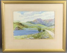 THOMAS CHARLES LEESON ROWBOTHAM watercolour - titled 'Near Capel Curig, North Wales', signed, 24.5 x
