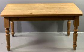 FARMHOUSE PINE KITCHEN TABLE, 78cms H, 152cms W, 89cms D