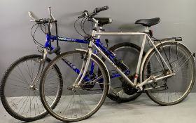 BICYCLES - Cougar XL by Emmelle, eighteen speed cross trail bike and a Falcon Explorer fifteen speed