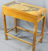 KUMBAKATEL VINTAGE PINBALL MACHINE on wooden stand, 89.5cms H maximum, 43cms W, 80.5cms L not