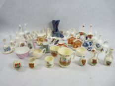CHINA & PORCELAIN CABINET COLLECTABLES, a quantity to include Doulton Bunnykins, Royal Worcester
