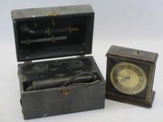 JOHN BELL & CROYDEN LONDON ELECTRICAL TESTER IN CASE (medical?) and a vintage Metamec Quartz