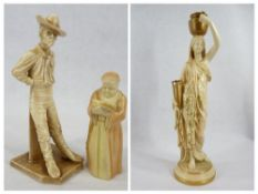 ROYAL WORCESTER FIGURINES (2) - to include 'The Yankee' Model No 836 from The Peoples of The World