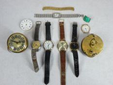 VINTAGE & MODERN WRISTWATCHES, CLOCK PARTS, ETC