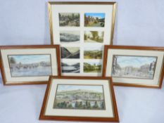 HOWARD MITCHELL limited edition prints - views of Dolgellau with a framed collage of similar vintage