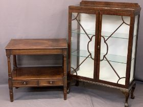 ANTIQUE & LATER FURNITURE, two items to include a Victorian mahogany two tier washstand having