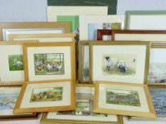 A LARGE PARCEL OF PRINTS AFTER Julie Roberts, Gwyneth Ryder, Elmer Keene, Phillip Snow and others