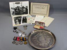 DAVID WILLIAMS ESQ OF LLANRWST - British Empire medal group of four marked as follows: MM - 53887