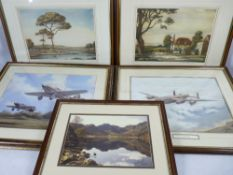 VINTAGE & LATER PRINTS GROUP (5) - to include WINSTON MEGORAN proof stamped aquatints - titled '