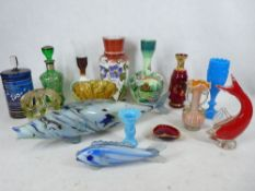 VICTORIAN MILK GLASS, Venetian overlay and other collectable glassware