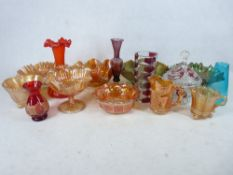 CARNIVAL & OTHER COLOURFUL GLASSWARE, A MIXED QUANTITY