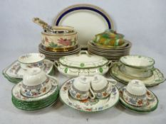 ROYAL DOULTON COUNTESS, Copeland Spode Chinese Rose, Cobalt and gilt edged Royal Worcester dinner