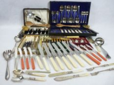 BOXED, CASED & LOOSE EPNS & OTHER CUTLERY