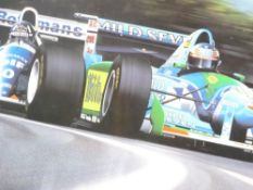 GAVIN MACLEOD limited edition (195/425) print 1994 - titled 'Michael Schumacher - Down to the Wire',