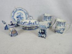 OLD CHELSEA, GRIMWADES, MINTONS & DUTCH DELFT BLUE & WHITE POTTERY GROUP