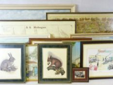 A LARGE PARCEL OF MIXED AMATURE PANTINGS & PRINTS - various sizes