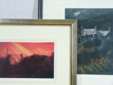 STEPHEN JOHN OWEN coloured limited edition print (1/20) - 'Sunset Gate', signed with initials and