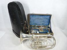 MUSICAL INSTRUMENTS - two cased trumpets