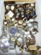 LADY'S & GENT'S WRISTWATCHES, Signet and other rings, various cufflinks and other jewellery