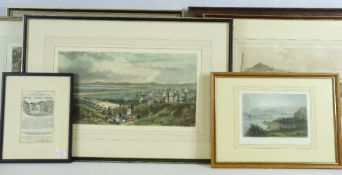 HAND TINTED & OTHER EARLY VIEWS OF WALES PRINTS (7) to include a lithograph by J NEWMAN titled 'Llyn