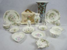 AYNSLEY 'WILD TUDOR', LITTLE SWEETHEART ornamental ware, Victorian cheese dish and base and a Past