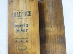 CRICKET BATS (2) - Early 20th Century, one Gradidge Imperial driver Extra Special 3 Star and