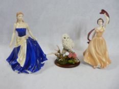 BOXED ROYAL DOULTON PRETTY LADIES 'Olivia' HN5114, Royal Grafton 'Emma' 332, hand painted by K