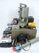 SPECTO VINTAGE FILM PROJECTOR - together with a collection of camera equipment