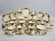 ROYAL ALBERT 'OLD COUNTRY ROSES' tea and coffeeware, approximately 40 pieces including tea and