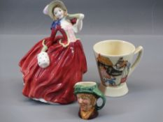 ROYAL DOULTON CHINA FIGURINE - Autumn Breezes HN1984, a pottery Royal Doulton children's nursery