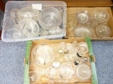 CUT & OTHER GLASSWARE, a mixed quantity (in three boxes)