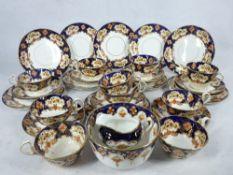 ROYAL ALBERT CROWN CHINA, Cobalt decorated part teaset, 30 plus pieces