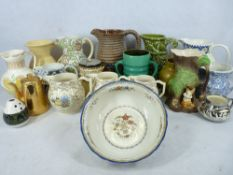 TUSCAN DECORO, BURLEIGH WARE, BRANNAM and other collectable jugs and pottery group (2 boxes)