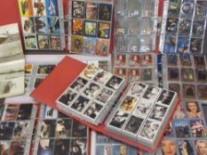 COLLECTOR'S CARDS - comic book, film, tv, music and others, seven large multi-sleeved folders