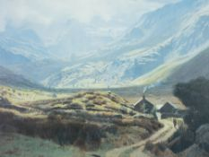 DAVID WOODFORD coloured limited edition print (244/1000) - entitled 'Nant Ffrancon', signed in full,