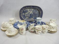 DUCHESS MARIE PART TEASET and a quantity of blue and white dinnerware ETC (in two boxes)
