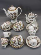 COFFEE SETS (2) - an eight piece Crown Staffordshire floral decorated Bachelor coffee set and a