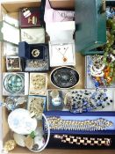 VINTAGE & LATER COSTUME JEWELLERY, collectable scent bottles, Masonic badges, ETC to include
