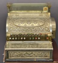 CIRCA 1900 NATIONAL CASH REGISTER, model 36, no. 248347, highly detailed in a chrome/plated