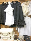VICTORIAN & LATER COUTURE, cases, bags, kid gloves including two black capes, children and adult