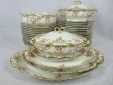 HAVILAND LIMOGES PORCELAIN DINNER SERVICE, 36 PIECE to include two tureens and covers, stamped verso