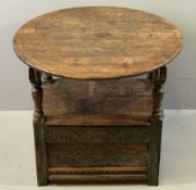 This & Other Lots from a Country Residence - Henblas, Bodorgan, Anglesey ANTIQUE OAK CIRCULAR TOPPED